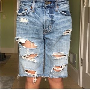 American Eagle Men's Ripped Jean Shorts